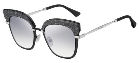 Jimmy Choo - Rosy S Matte Black Palladium Sunglasses / Violet Silver Mirror Lenses
