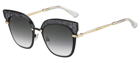 Jimmy Choo - Rosy S Black Gold Sunglasses / Dark Gray Gradient Lenses