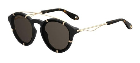 Givenchy - Gv 7088 S Black Gold Sunglasses / Gray Blue Lenses