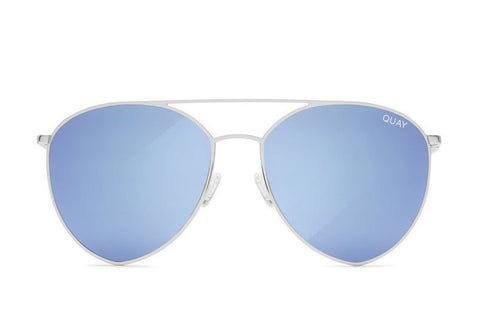 Quay Indio Silver / Blue Sunglasses