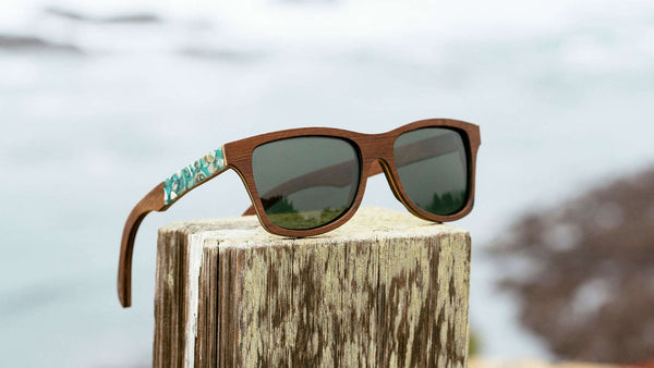 Shwood - Canby Seashell Inlay Walnut / G15 Polarized Sunglasses