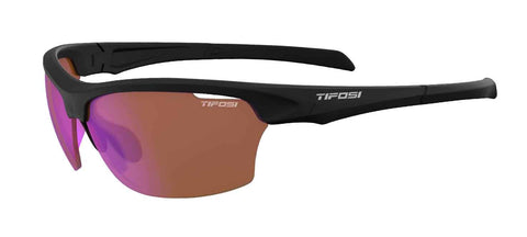 Tifosi - Intense Matte Black Sunglasses / AC Red Lenses
