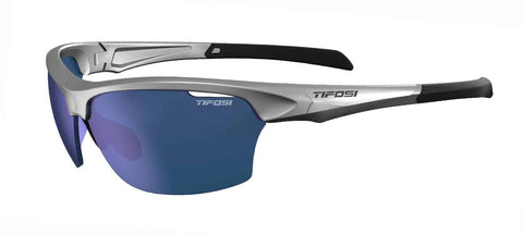 Tifosi - Intense Metallic Silver Sunglasses / Smoke Blue Lenses