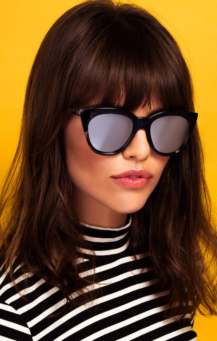 4f4af9b5ca ... timeless and edgy. These slightly winged square frames are the type of  fabulous quality sunnies you ll never want to lose. -- Polycarbonate Frame.