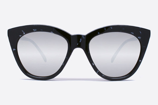 Quay Isabell Black Tortoise / Silver Mirror Sunglasses