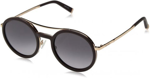 Max Mara - Oblo Burgundy Gold Sunglasses / Gray Gradient Lenses