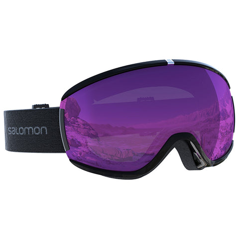 Salomon - Ivy Black Snow Goggles /  Universal Ruby Lenses