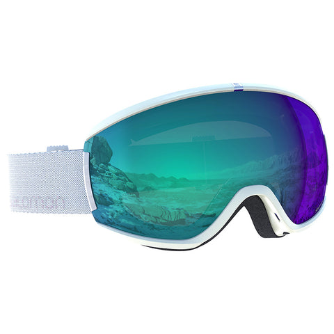 Salomon - Ivy Photo White Snow Goggles / Photo Blue Lenses