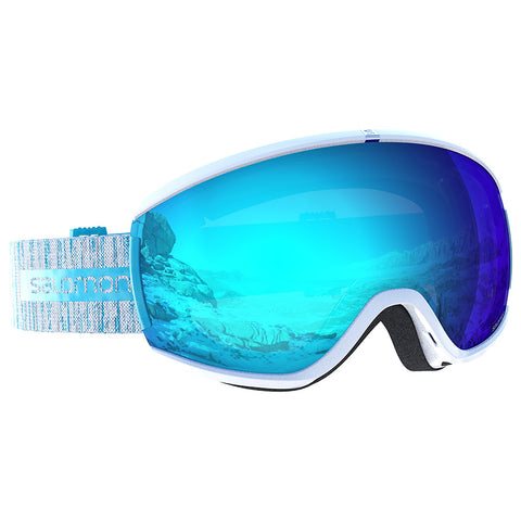 Salomon - Ivy White Snow Goggles / Universal Mid Blue Lenses