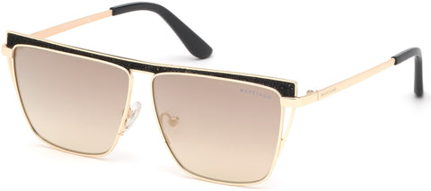 Marciano - GM0797 Gold Sunglasses / Smoke Mirror Lenses