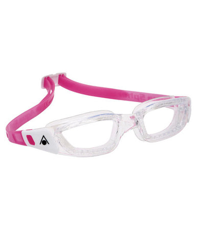 Aqua Sphere - Kameleon Jr Transparent White Pink Accents Swim Goggles / Clear Lenses