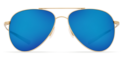 Costa - Cook Shiny Gold  Sunglasses / Blue Polarized Glass Lenses