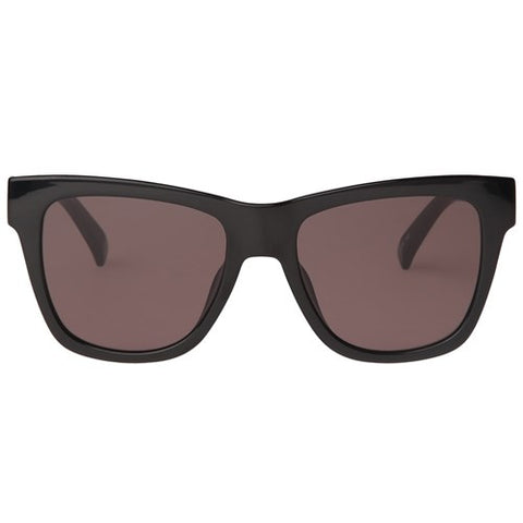 Le Specs - No Biggie Black Rubber Sunglasses / Smoke Mono Polarized Lenses