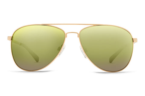 VonZipper - Farva Gold Sunglasses / Green Chrome Lenses