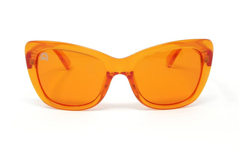 RainbowOPTX - Vega Transparent Orange Sunglasses / Orange Lenses