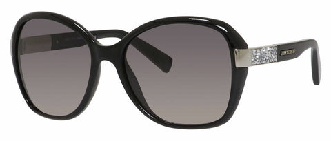 Jimmy Choo - Alana S Shiny Black Sunglasses / Gray Gradient Lenses