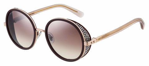 Jimmy Choo - Andie N S Plum Sunglasses / Brown Mirror Gradient Lenses