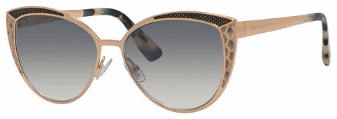 Jimmy Choo - Domi S Gold Copper Sunglasses / Gray Mirror Shaded Silver Lenses