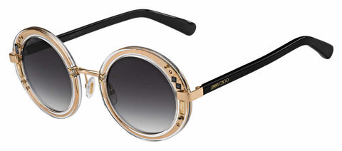 Jimmy Choo - Gem S Crystal Gold Black Sunglasses / Dark Gray Gradient Lenses