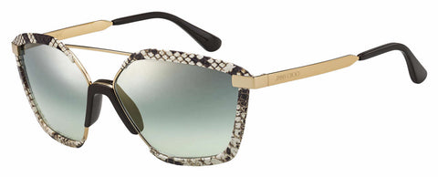 Jimmy Choo - Leon S Brown Sunglasses / Green Silver Mirror Lenses