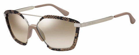 Jimmy Choo - Leon S Pink Sunglasses / Brown Mirror Gradient Lenses