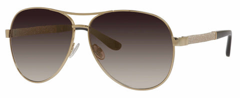 Jimmy Choo - Lexie S Rose Gold Sunglasses / Brown Mirror Gold Shaded Lenses