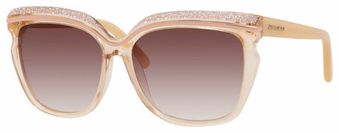 Jimmy Choo - Sophia S Nude Sunglasses / Brown Violet Shaded Lenses