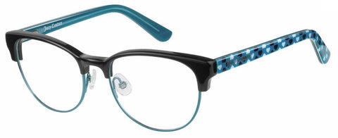 Juicy Couture - Ju 928 47mm Black Teal Eyeglasses / Demo Lenses
