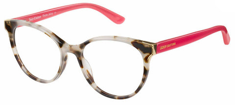 Juicy Couture - Ju 176 Havana White Eyeglasses / Demo Lenses