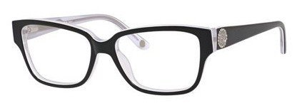 Juicy Couture - Ju 158 Black White Crystal Eyeglasses / Demo Lenses