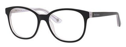 Juicy Couture - Ju 160 Black White Crystal Eyeglasses / Demo Lenses