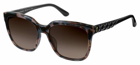 Juicy Couture - Ju 602 S Gray Black Spotted Sunglasses / Brown Gradient Lenses