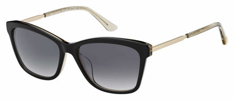 Juicy Couture - Ju 604 S Black Beige Sunglasses / Dark Gray Gradient Lenses