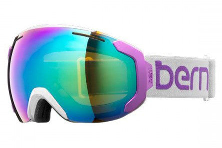 Bern - Juno Grey / Purple Goggles, Green / Blue Light Mirror Lenses