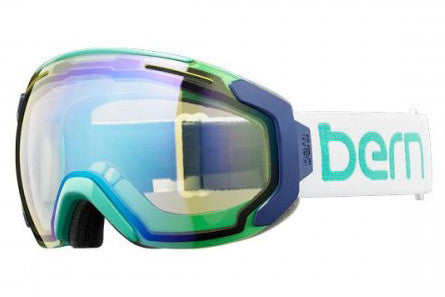 Bern - Juno White / Teal Goggles, Yellow / Blue Light Mirror Lenses