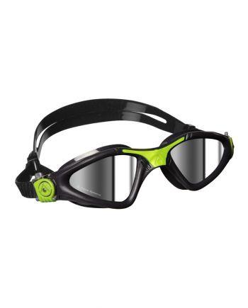 Aqua Sphere - Kayenne Regular Fit Grey / Lime Swim Goggles, Mirrored Lenses