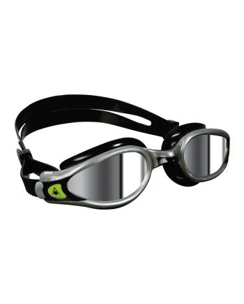 Aqua Sphere - Kaiman EXO Silver Black Swim Goggles / Mirrored Lenses