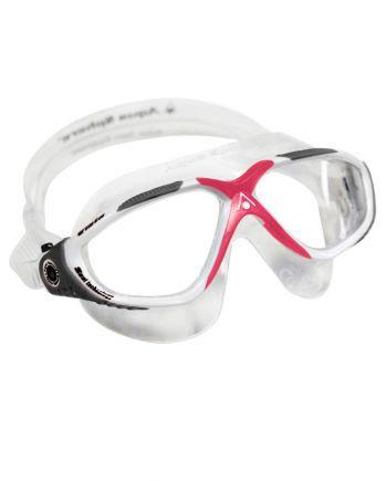 Aqua Sphere - Vista Ladies White / Coral Swim Goggles, Clear Lenses