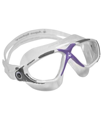 Aqua Sphere - Vista Ladies White Lavender Swim Goggles / Clear Lenses