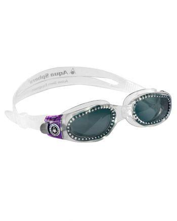 Aqua Sphere - Kaiman Ladies Translucent / Purple Swim Goggles, Smoke Lenses