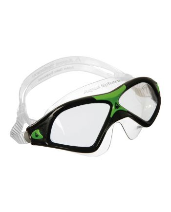 Aqua Sphere - Seal XP 2 Black / Green Swim Goggles, Clear Lenses