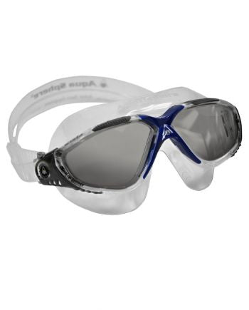 Aqua Sphere - Vista Translucent / Gray / Blue Swim Goggles, Smoke Lenses