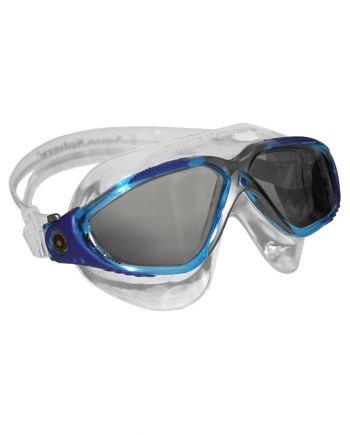 Aqua Sphere - Vista Aqua Blue White Swim Goggles / Smoke Lenses