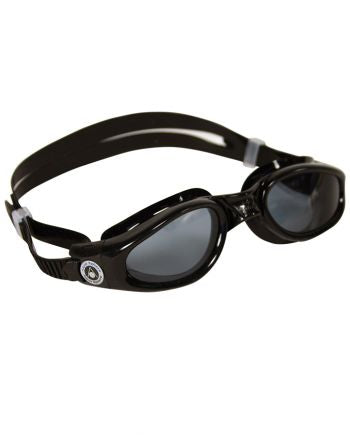 Aqua Sphere - Kaiman Small Fit Black Swim Goggles, Smoke Lenses