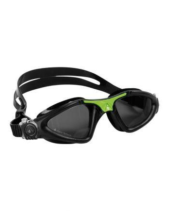 Aqua Sphere - Kayenne Regular Fit Black Green Swim Goggles / Smoke Lenses
