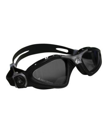 Aqua Sphere - Kayenne Regular Fit Black / Silver Swim Goggles, Smoke Lenses