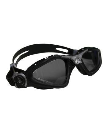 Aqua Sphere - Kayenne Regular Fit Black Silver Swim Goggles / Smoke Lenses