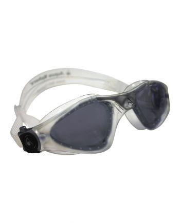 Aqua Sphere - Kayenne Regular Fit Translucent / Silver Swim Goggles, Smoke Lenses