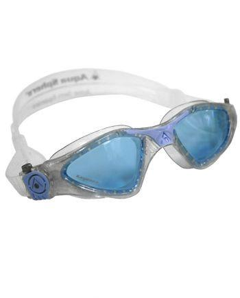 Aqua Sphere - Kayenne Ladies Glitter Powder Blue Swim Goggles / Blue Lenses