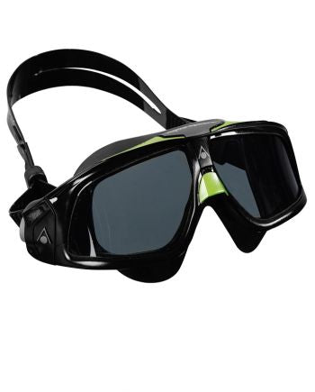 Aqua Sphere - Seal 2 Black Green Swim Goggles / Smoke Lenses